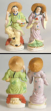 PORCELAIN FIGURINES, MAN AND WOMEN, MADE IN OCCUPIED JAPAN, SET OF 2