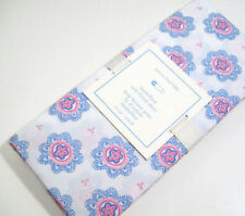 Pottery Barn Kids Multi Color Pink Blue Medallion Baby Crib Toddler Fitted Sheet