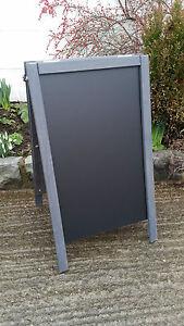 Slate Grey Wooden A Board - Chalkboard - Blackboard - Pavement Sign - 70 x 40cm
