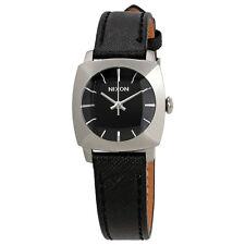 Nixon Luca Black Dial Black Leather Ladies Watch A401-000