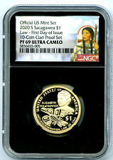 2020 S $1 SACAGAWEA PROOF NGC PF69 UCAM FIRST DAY OF ISSUE DOLLAR BLACK CORE
