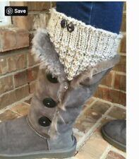 Hand Knitted Boot Cuffs/Toppers (HANDMADE)