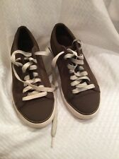 EUC Teva #1002360 Infused Fashion Sneakers Leather Canvas Mens Size 7 Brown