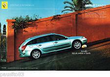 PUBLICITE ADVERTISING 065  2002  RENAULT  LAGUNA  ESTATE 2.2 DCI  ( 2p)