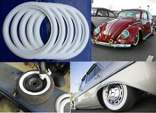 "5 pcs 15"" whitewalls rubber ring tire insert trim VW Beetle Ford Chevy Mopar"