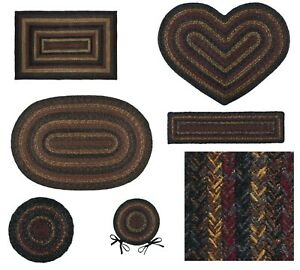 Slate Jute Braided Rug & Tabletop Farmhouse Country Rustic Collection