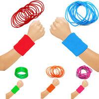 Ladies/ Girls 80's 90's Neon UV Gummy bangles Jelly Wristbands Fancy Shag Bands