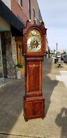 Fantastic English Mahogany Tall Case Clock 19th Century