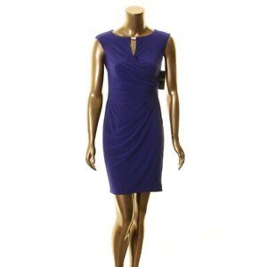 LAUREN RALPH LAUREN NEW Women's Petites Hardware Keyhole Wrap Dress 2P TEDO
