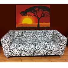 Removable Sofa Slipcover Cover Fits Only For Ikea Klippan Sofa Zebra Animal Prin