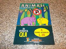 LOCANDINA ALBUM FIGURINE ANIMALI E TRAFFICO PANINI MANIFESTO ORIGINALE ANNI 70