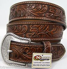 NOCONA belts men's western casual dress accessories BROWN LEATHER BELT 46 NWT!