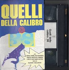 QUELLI DELLA CALIBRO 38  (1976) VHS Linearfilm Video 1a Ed. Massimo Dallamano