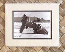 "Kim Taylor Reece ""Hula Noho"" 8 X 10 Double Matted Hawaiian Hula Print - New"