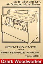 Tennsmith 36a Amp 52a Air Metal Shears Operators Amp Parts Manual 0719
