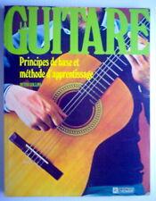 LIVRE DE 1978, LA GUITARE, PRINCIPES DE BASE ET MÉTHODE D'APPRENTISSAGE