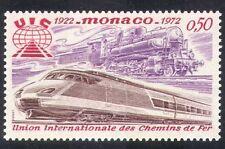Monaco 1972 Trains/Steam Engine/TGV/Railways/Rail/Union/Transport 1v (n35149)