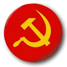 "HAMMER & SICKLE - 25mm 1"" Button Badge - Novelty Cute USSR CCCP Communist Marx"