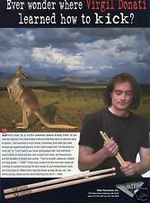 1997 Vater Percussion Inc Virgil Donati Drum Stick Print Ad