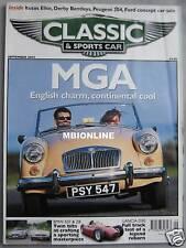 Classic & Sportscar magazine 09/2002 featuring BMW 507, Z8, Lotus Elite, Lancia