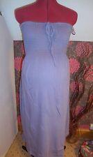 BNWT MATERNITY Pretty Blue Strapless Cotton Summer Dress Size Medium