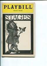Jack Warden Tom Aldredge Philip Bosco Stages 1978 Opening Night Playbill