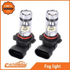 2x H10 9145 9140 9040 HB3 100W 6000K Super White LED HID Fog Lights Driving Bulb