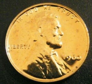 1960 Choice Proof Small Date Lincoln Memorial Pennies from US Proof with spots