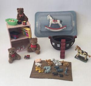 Dolls House Toys And Shelf Unit