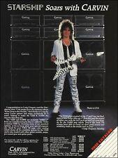 Craig Chaquico Carvin V220 guitar & X100B amps advertisement 1987 ad print