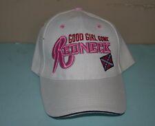 White Good Girl Gone Redneck Baseball Cap Hat Hook Loop Adjustable size Women's