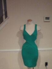 bebe green cut out dress  #644