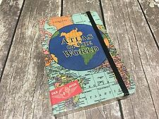 """Cavallini & Co. 4"""" X 6"""" Atlas of the World Notebook, Small Travel Journal"""