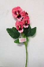 Artificial Pansy Spray Pink - 43 cm - Spring and Summer Fake Flower Stem