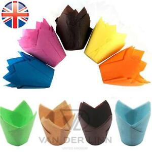 TULIP Muffin Cases Wraps Cupcake Greaseproof Baking PREMIUM QUALITY