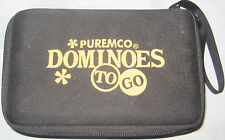 PUREMCO TO GO TRAVEL DOUBLE SIXES DOMINOES IN CASE COMPLETE