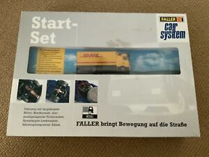 Faller of Germany HO Scale Car System Start Set with MB Actros DHL Truck