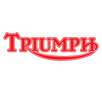 2 x RED - TRIUMPH - Motorbike Tank Decal Stickers