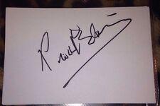 LIONEL BLAIR SIGNED 6X4 WHITE CARD TV AUTOGRAPH DANCER TV PRESENTER BIG BROTHER