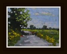 Big Norfolk Sky Original Impressionist Oil Painting on Board : Shaun Viney