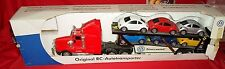 Original Vw Rc Autotransporter Semi & 6 New Beetles Beetle Car Cars Very Large
