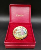 Cartier England Enamelware Hinged Box 'With Much Love' With Box