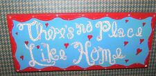 Rustic Reclaimed Handcraft Wood Sign Yard Art OZ There's No Place Like Home 12x5