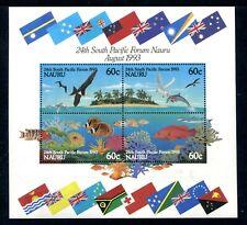 1993 Nauru 25th South Pacific Forum - MUH Mini Sheet
