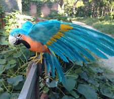 polyethylene & furs blue parrot toy simulation wings macaw model gift about 30cm