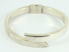 Crossover Hinged Bangle Sterling Silver Ladies Bracelet 925 20.1g Gg78