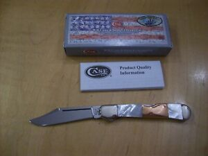 CASE XX KNIFE MINI-COPPERLOCK ~ CUSTOM HAND FINISHED MOTHER OF PEARL / COPPER
