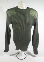 Genuine British Army Olive Green Crew Neck Ribbed Pullover Jumper Winter Warm