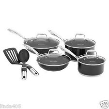 KITCHENAID 10 PIECE STAINLESS CULINARY COOKWARE SET NONSTICK ONYX KCSS10GOB