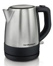 Hamilton Beach 1 L Stainless Steel Cordless Electric Kettle Tea Liter Water